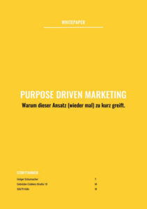 Whitepaper: Purpose Driven Marketing